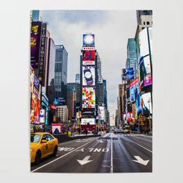 First light in Times Square Poster