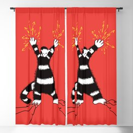 Weird Electro Cat Blackout Curtain