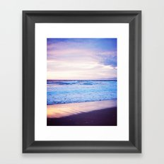Purple Sunset over Hermosa Beach, Los Angeles  Framed Art Print