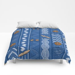 Scarves Knitted Buttoned - Blue Comforters