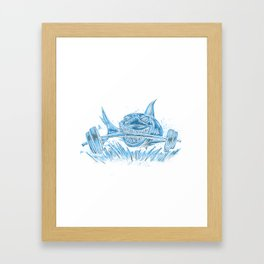 Muscular Shark Framed Art Print