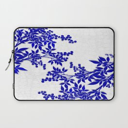 BLUE AND WHITE  TOILE LEAF Laptop Sleeve