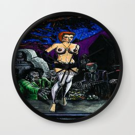 Bad Girls of Motion Pictures #5 - Trash Wall Clock