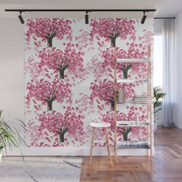 Cherry Tree Pattern Wall Mural