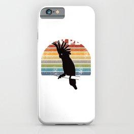 Pew Pew Madafakas Cockatoo Parrot with Pistol Parrot Design iPhone Case