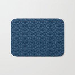 Blue Honeycomb Bath Mat