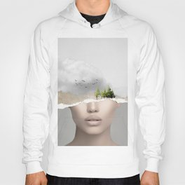 minimal collage /silence2 Hoody