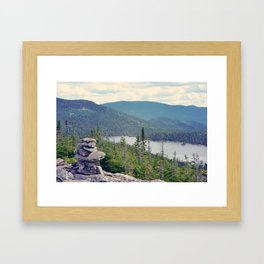inukshuk - Parc National de la Gaspésie (Québec, Canada) Framed Art Print