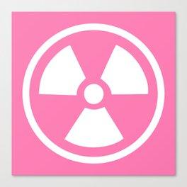 Pink Radioactive Symbol Canvas Print