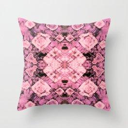 Pink Silk Tie-Dye Throw Pillow