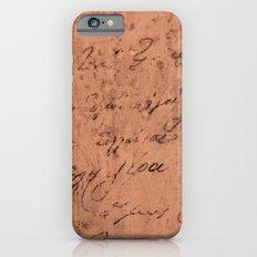 Manuscript Slim Case iPhone 6s