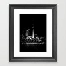 CN Tower From Bathurst Quay Toronto Canada Framed Art Print