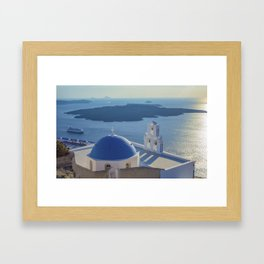 Santorini Island, Greece Framed Art Print
