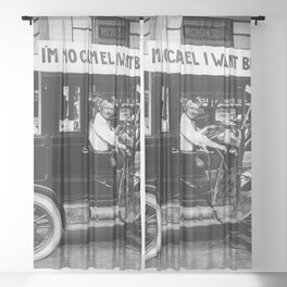 Vintage I'm No Camel - We Want Beer - Repeal Prohibition black and white photograph / photographs  Sheer Curtain
