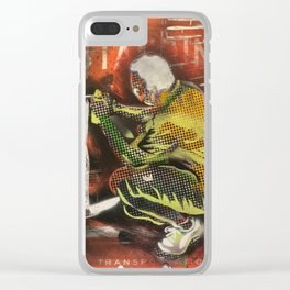 No Standing Crouching Tagger Clear iPhone Case