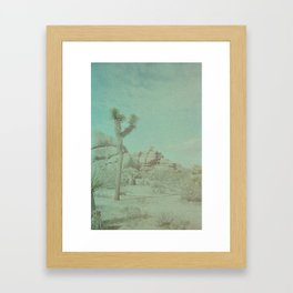 Joshua Tree on Color Implosion Film Framed Art Print