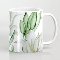 lily Mugs featuring Lily by Julia Badeeva
