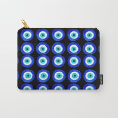 Evil Eye Talisman - on black Carry-All Pouch
