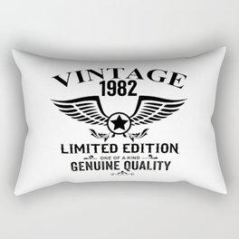 Vintage birthday Rectangular Pillow