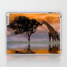 Giraffe at Sunset Laptop & iPad Skin