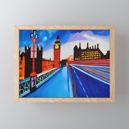 London At Night Framed Mini Art Print