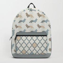 Welsh Corgi Pattern - Natural Colors Backpack