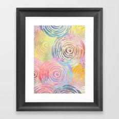 Summer Pattern Framed Art Print