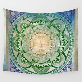 Metta Mandala, Loving Kindness Meditation Wall Tapestry