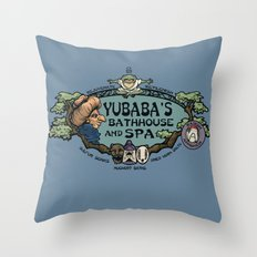 Yubaba's Bathhouse Throw Pillow