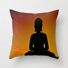 In Buddha's Shadow Throw Pillow