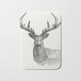 geometric deer custom design Bath Mat