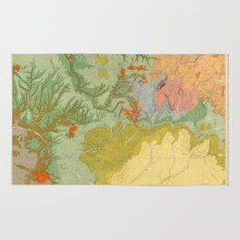Vintage Southwest Map Rug