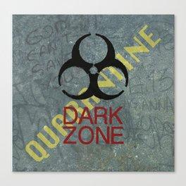 Dark Zone Wall Canvas Print