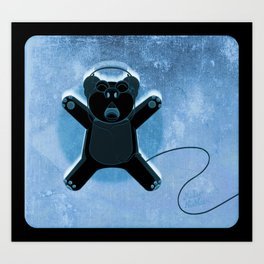 Ecstatic Bear Art Print