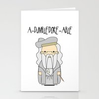 dumbledore Stationery Cards featuring A-DUMBLEDORE-ABLE.  by BeckiBoos