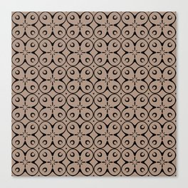 My Lucky Day Warm Taupe Canvas Print