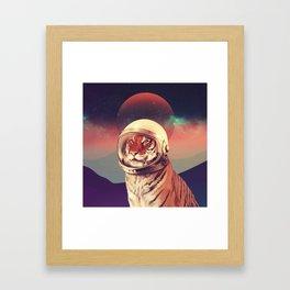 Cosmos Cat Framed Art Print