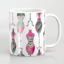 Vintage Dress Forms – Pink & Black Palette Coffee Mug