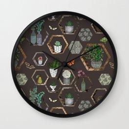 Garden Wall Wall Clock