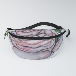 Pink And White Rose Fanny Pack