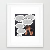 anxiety Framed Art Prints featuring Anxiety by AdamSteve