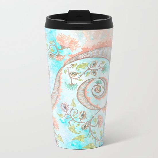 Open Mind Meditation Metal Travel Mug