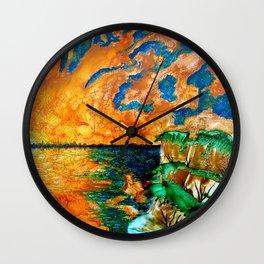 Sun sky in the evening Wall Clock