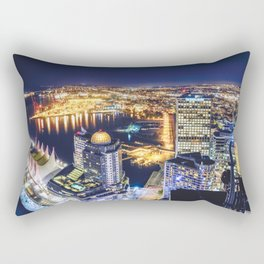 1719 Voyeuristic Vancouver Cityscape Space Craft - Waterfront Convention Center Gastown BC Canada Rectangular Pillow
