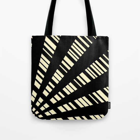 Fancy  |  Cream & Black Tote Bag
