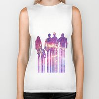 starlord Biker Tanks featuring what a bunch of A-Holes by Iamzombieteeth Clothing