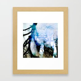 Winter Bridge Framed Art Print