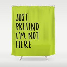 Pretend Shower Curtain