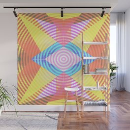 Psychedelic shapes Wall Mural