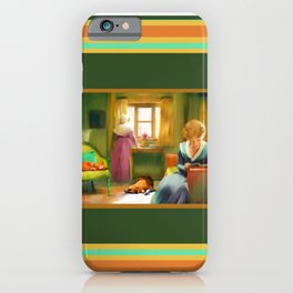 Victorian Day with Cat and Dog (The Misses Boylston) iPhone Case